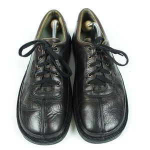 Sojourn Dark Brown Leather 5 eye Walking Oxfords